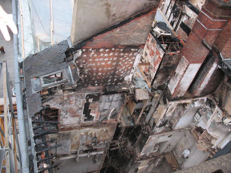 L'immeuble sinistré