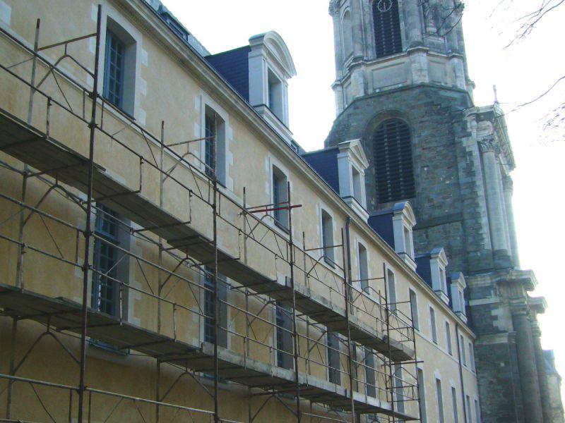 Façade ancienne abbaye St-Melaine Rennes