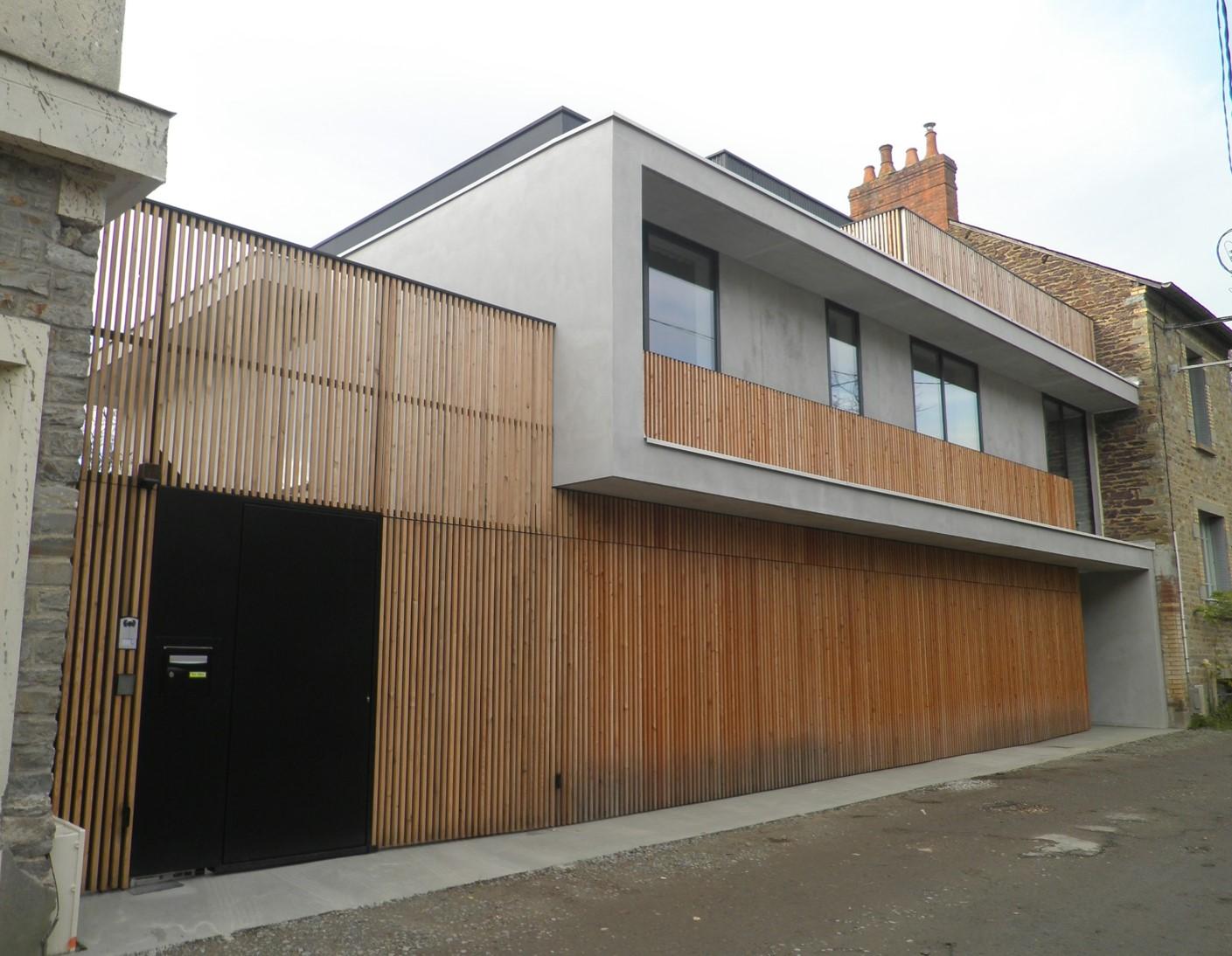 construction d 39 une maison en centre ville bouchard construction. Black Bedroom Furniture Sets. Home Design Ideas
