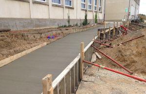 Construction d'une rampe d'accès
