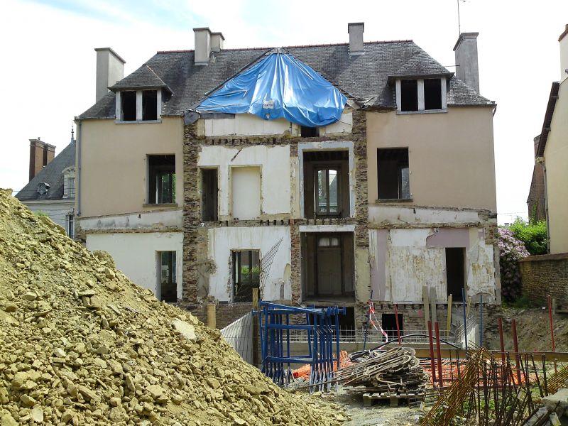 Phase de démolition de façade