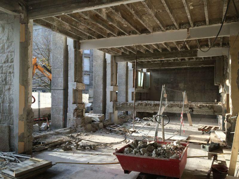 St- Malo démolition centre des impôts