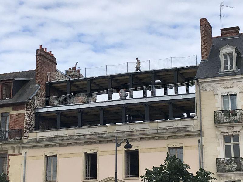 Surélévation du bâtiment