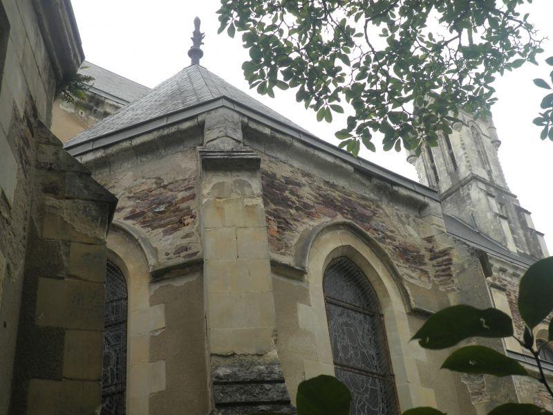 La chapelle avant travaux - façade Sud