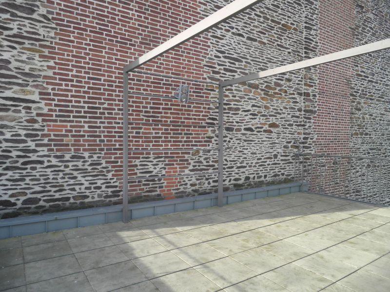 La terrasse au dernier étage avant les travaux